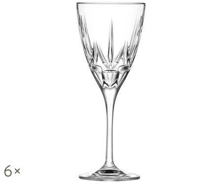 Copas de vino tinto de cristal Chic, 6uds.