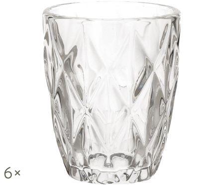 Vasos de agua Diamond, 6uds.