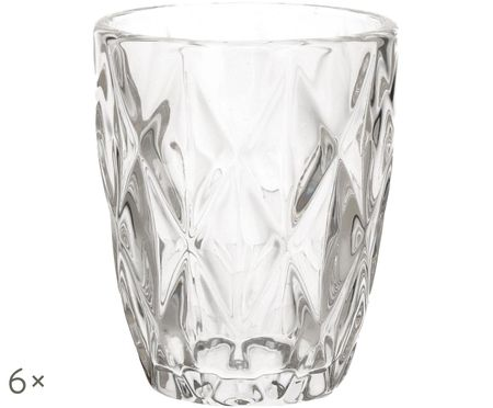Szklanka do wody Diamond, 6 szt.