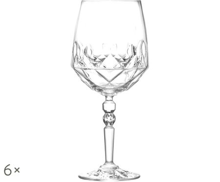 Verres à vin blanc en cristal Calicia, 6pièces