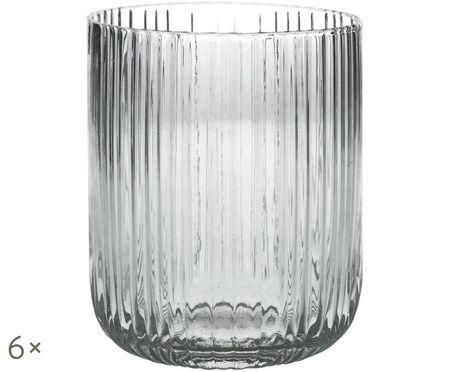 Wassergläser Canise mit Rillenstruktur, 6er-Set