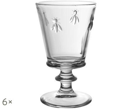 Pohár na víno Abille s jemným reliéfom včiel, 6 ks