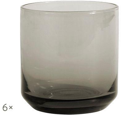 Ručne fúkané poháre na vodu Retro, 6 ks