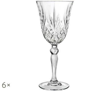 Verres à vin rouge en cristalMelodia, 6pièces
