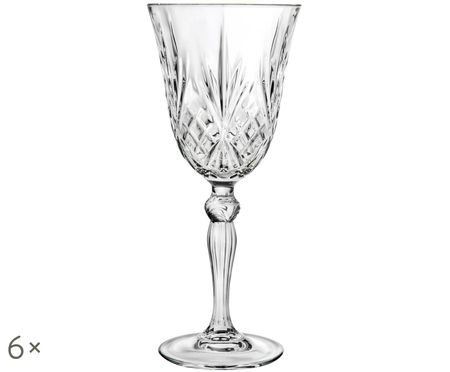 Copas de vino tinto de cristal Melodia, 6uds.