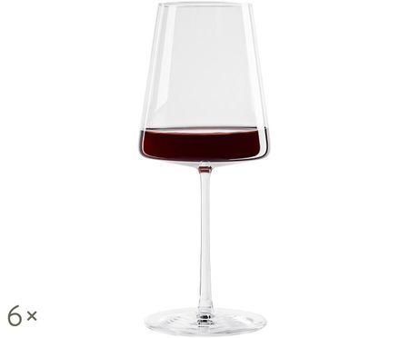 Kryształowy kieliszek do czerwonego wina Power, 6 szt.