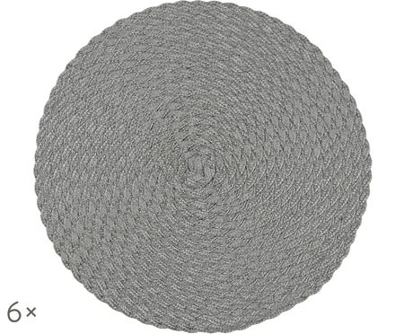 Runde Kunststoff Tischsets Avon, 6 Stück
