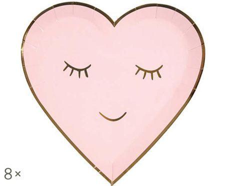 Assiettes en papier Heart, 8 pièces