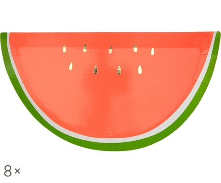 Piatto di carta Watermelon, 8 pz.