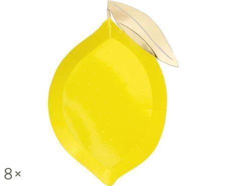 Talerz z papieru Lemon, 8 szt.