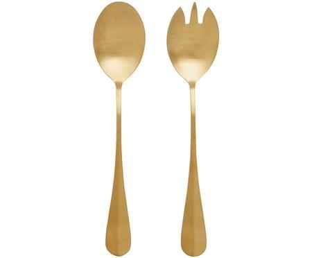 Posate per insalata in acciaio inossidabile Goldy, set di 2