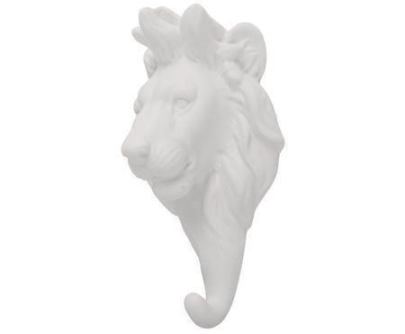 Nástěnný háček z porcelánu Lion