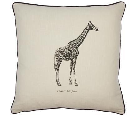 Kissen Ambition mit Giraffe, mit Inlett