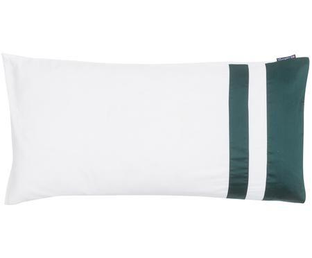 Poszewka na poduszkę z satyny bawełnianej Green Border