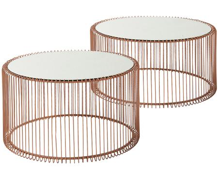 Tables basses avec plateau en verreWire, 2élém.