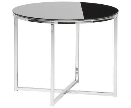 Table basse avec plateau en verre noir Cross