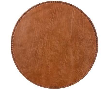Set de table rond en cuir Lia