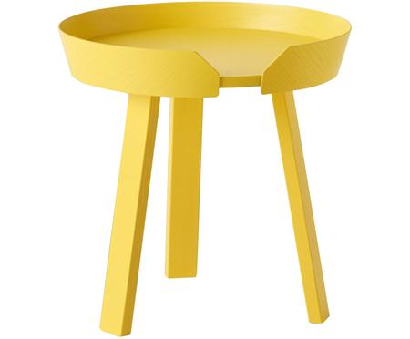 Table d'appoint jaune Around Small