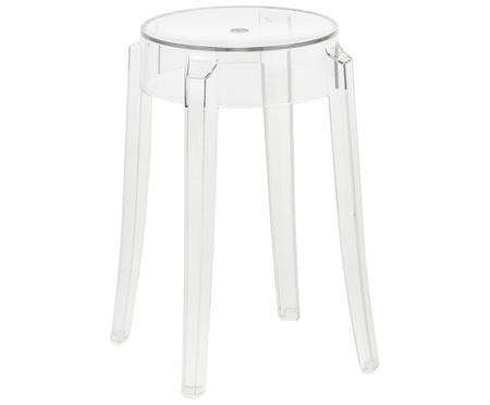 Tabouret/table d'appoint transparente Charles Ghost