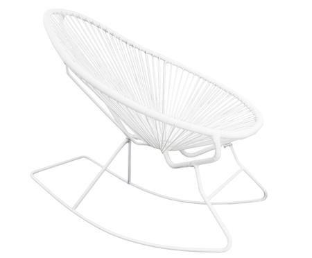 Moderner Schaukelstuhl Grace in Weiß