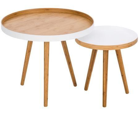 Ensemble de tables d'appoint Cappuccino, 2 élém.