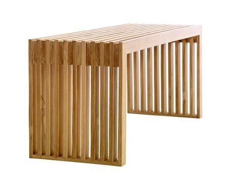 Panca in legno di teak di design Rib