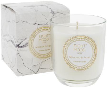 Świeca zapachowa White Marble (mimoza, róża)