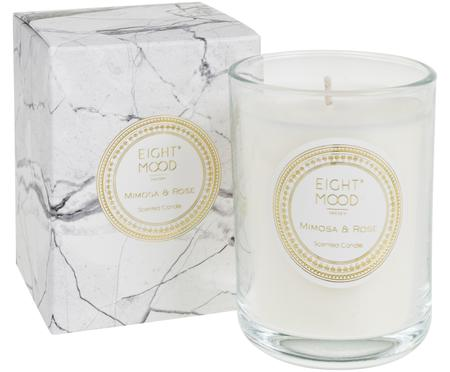 Bougie parfumée White Marble (mimosa et rose)