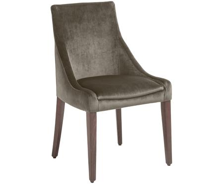 Fluweel beklede stoel Manhattan