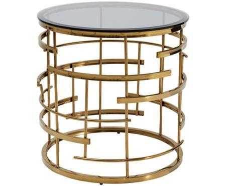 Kulatý odkládací stolek se skleněnou deskou Jupiter