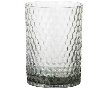 Glas-Zahnputzbecher Grey Crystal