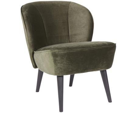 Fluwelen fauteuil Sara