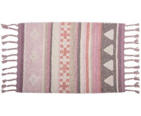Tappeto in cotone con nappe Nagou