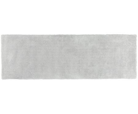 Flauschiger Hochflor-Läufer Leighton in Hellgrau