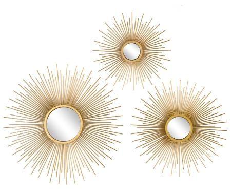 Ensemble de miroirs muraux Sun, 3élém.