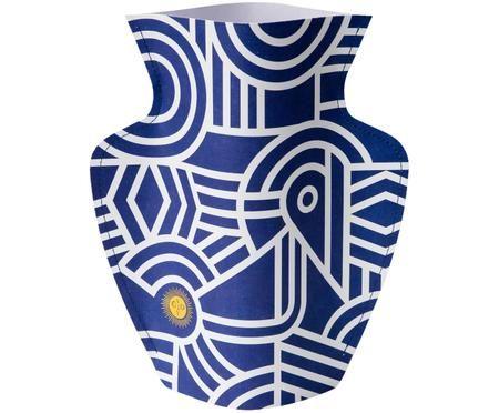 Vaso in carta decorativo fatto a mano Greco