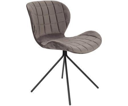 Krzesło tapicerowane z aksamitu OMG