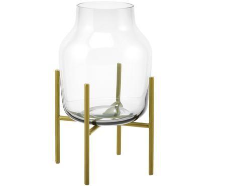 Glas-Vase Lars mit Metallgestell