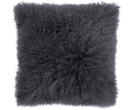 Cuscino in  pelliccia di pecora a pelo lungo Curly