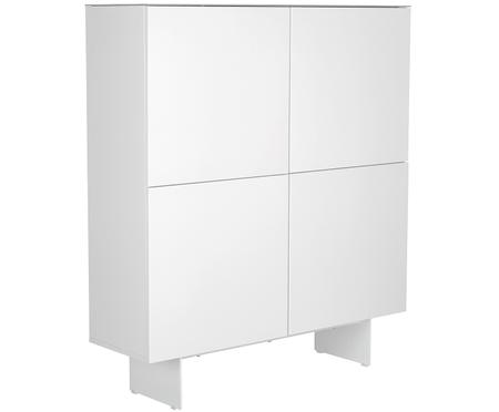 Highboard Fion mit Oberfläche in Marmor-Optik