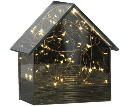 LED Tischleuchte Mirror House, batteriebetrieben