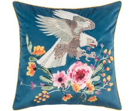 Haftowana poszewka na poduszkę z aksamitu Eagle