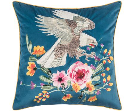 Funda de cojín bordada de terciopelo Eagle