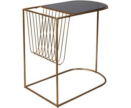 Tavolino in metallo con portariviste Eileen