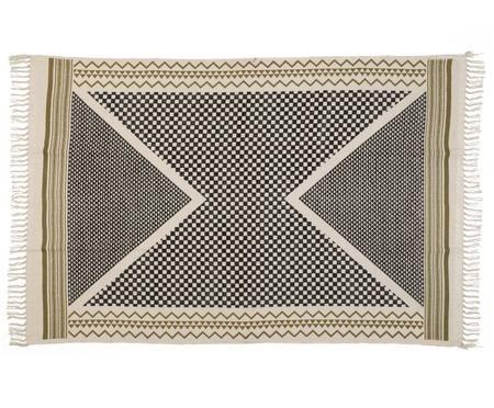Tapis en coton style ethnique, tissé à la main Metro