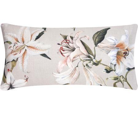 Baumwollsatin-Kissenbezüge Flori mit Blumenprint, 2 Stück