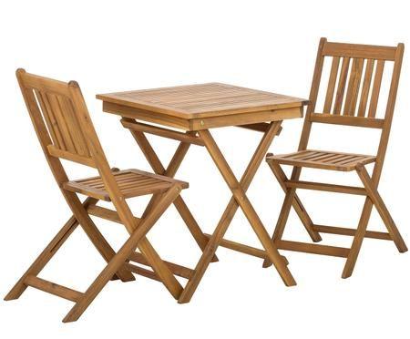 Set tavolo e sedie da giardino Skyler 3 pz.