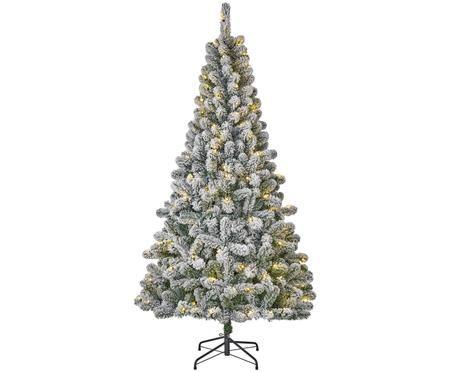 Albero di Natale innevato con luci LED Millington