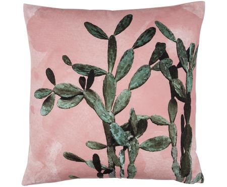 Kissen Montezuma mit Kaktusprint, mit Inlett