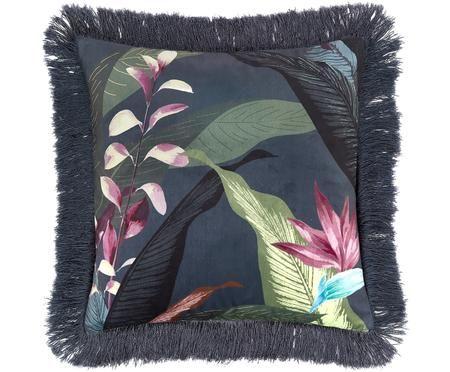 Poszewka na poduszkę z aksamitu z frędzlami Flora